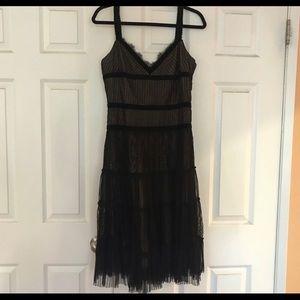 BCBG MAXAZRIA Velvet and Lace Dress